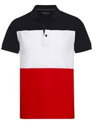 Tommy Hilfiger Medwin Cotton Polo Shirt Blue Red White