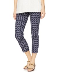 A Pea In The Pod Maternity Printed Ankle Pants Multiprint