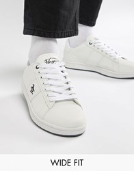 Original Penguin Wide Fit Stedaman Trainers In White