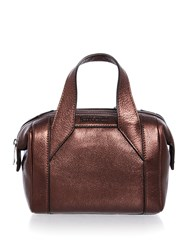 Just Cavalli Laminated Tumbled Burgundy Small Tote Bag Burgundy
