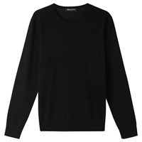 Aquascutum London Merino Crew Neck Jumper Black