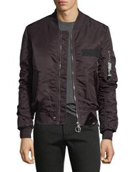 Eleven Paris Nuxy Zip Front Bomber Jacket Brown