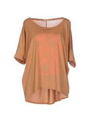 Gold Case Topwear T Shirts Women Skin Color