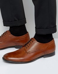Base London Ford Leather Derby Shoes Tan