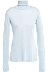 Missoni Woman Knitted Turtleneck Sweater Sky Blue