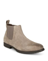 Black Brown Suede Chelsea Boots Taupe Grey