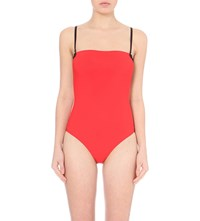 Alexander Wang Two Tone Bonded Swimsuit Pop