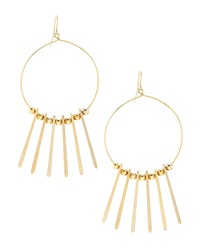 Kenneth Jay Lane Spike Hoop Earrings