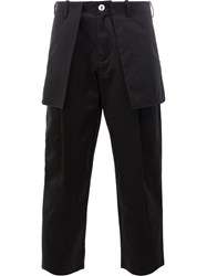 Aganovich External Pockets Cropped Trousers Black