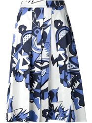 Piazza Sempione Print Pleat Skirt