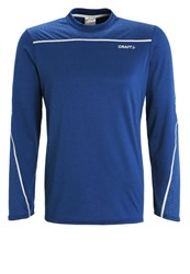 Craft Mind Long Sleeved Top Deep Melange Platinum Blue