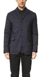 Apolis Quilted Blazer Navy