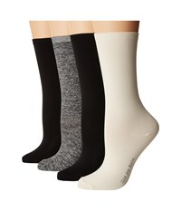 Hue Body Socks 4 Pack Ivory Marled Pack Women's Crew Cut Socks Shoes Multi