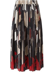 Salvatore Ferragamo Printed A Line Skirt Multicolour