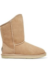 Australia Luxe Collective Cosy Short Shearling Boots Beige