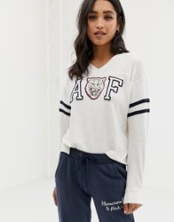 Abercrombie And Fitch Logo Tshirt White