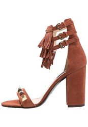Patrizia Pepe High Heeled Sandals Burnt Red Cognac