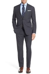 Todd Snyder Trim Fit Check Wool Suit Gray