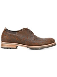Last Sole Distressed Lace Up Shoes Men Leather Rubber 43 Brown