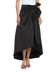 Eliza J Belted Hi Lo Skirt Black