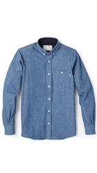 Patrik Ervell Button Collar Denim Shirt