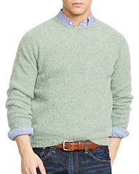 Polo Ralph Lauren Wool Cashmere Crewneck Sweater Dusty Green Heather