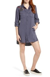 Billy T Embroidered Shirtdress Onyx W Embroidery