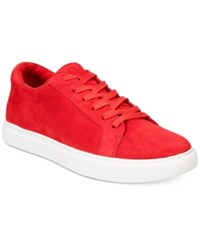 Kenneth Cole New York Women's Kam Lace Up Sneakers Women's Shoes Red Suede
