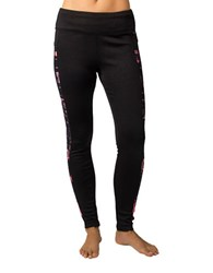 Jockey Motion Plaid Fleece Ankle Leggings Pink
