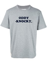 Sacai Oddy Knocky T Shirt Grey
