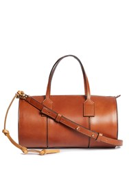 Loewe Barrel Small Leather Tote Tan