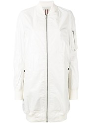 Rick Owens Drkshdw Zipped Coat Women Cotton S Nude Neutrals
