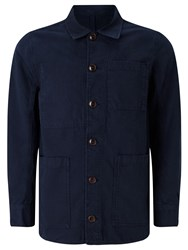 John Lewis And Co. Canvas Workwear Jacket Navy