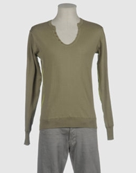 Zinco Crewneck Sweaters Military Green