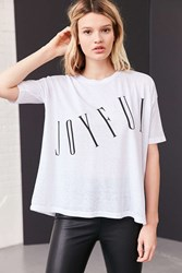 Silence And Noise Tall Text Tee Ivory