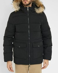 Pyrenex Black Authentic Pr Removable Fur Down Jacket