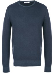 Cruciani Crew Neck Jumper Blue