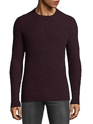 Saks Fifth Avenue Quarry Thermal Cashmere Sweater Chili
