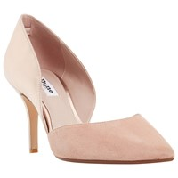 Dune Cindey Two Part Stiletto Court Shoes Rose Gold