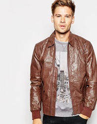 Pepe Jeans Lawrence Leather Jacket Brown