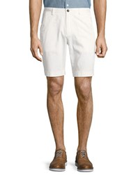 Brooks Brothers Stretch Cotton Chino Shorts White