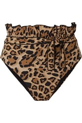 Karla Colletto Lanai Reversible Leopard Print High Rise Bikini Briefs Leopard Print