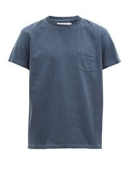 Schnayderman's Garment Dyed Patch Pocket Cotton T Shirt Indigo