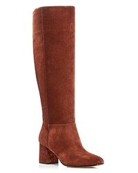 Via Spiga Mellie Mid Heel Boots Dark Roast
