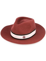 Maison Michel Rico Hat Red