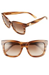 Women's Mcm 54Mm Retro Sunglasses Striped Cognac