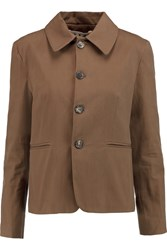Marni Cotton Twill Jacket Brown