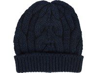 Barneys New York Women's Cable Knit Beanie Navy