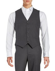 Kenneth Cole Reaction Button Front Vest Grey