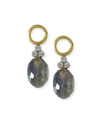 Jude Frances Provence Labradorite Briolette Earring Charms With Diamonds Gold